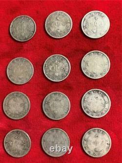 12 Pieces China/kwangtung 1890-1908 10 Cents Dragon Y-200 Circulated Lot