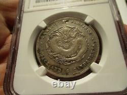 1890 1905 China 50 Cents Kwangtung L&m -134 Ngc Xf Details. Free Shipping