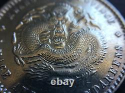 1890 1908 China Kwang Tung 20 Cents Silver Coin BU