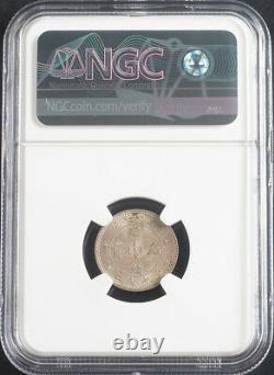 1890-1908, China, Kwangtung. Silver 10 Cents Coin. LM-136. Pop 51/20! NGC MS-64