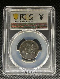1898 China Fengtien 1 Mace 4.4 Candareens 20 Cents Year 24 Pcgs Au Details