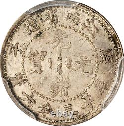1900 China Kiangnan 5 Cents Silver Coin Y-141a Lm-236 Pcgs Ms-62