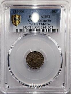 1900 China Kiangnan Silver 5 Cents, PCGS AU53