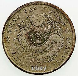 1902 CHINA KIANGNAN Kuang Hsu Silver Coin 20 Cent