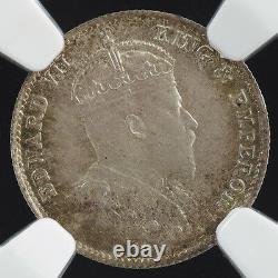 1905 China Edward VII Hong Kong 5 Cent Five NGC MS Rare Silver Coin