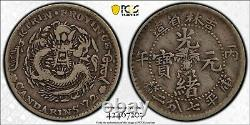 1906 China Kirin 10 Cents Silver Coin Y-180.1 Lm-565 Pcgs Vf-35