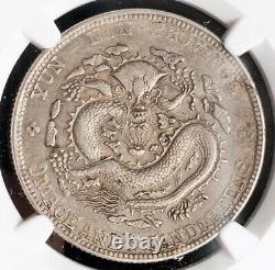 1909, China, Yunnan Province. Silver 50 Cents (½ Dragon Dollar) Coin. NGC AU-50