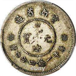 1911 1915 China Yunnan 1 Mace 4.4 Candareens 20 Cents Coin Pcgs Vf-25