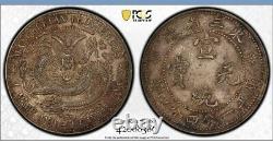 1912 China Manchuria Silver 20 Cent Coin Pcgs Au55