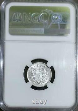 1914 china yuan shih kai 10 cents silver coin NGC 62