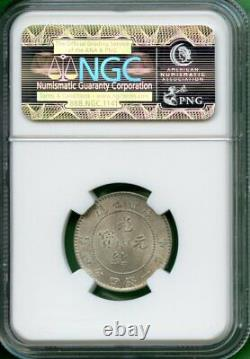 China 1890-08 Kwangtung 20 Cents Ngc Ms 63 Y 201 LM 135