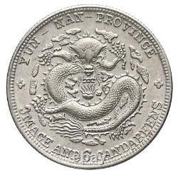 China, 50 Cents, 1909-11, Xuantong (Yunnan Province), 7 Flames on Pearl, L&M-426