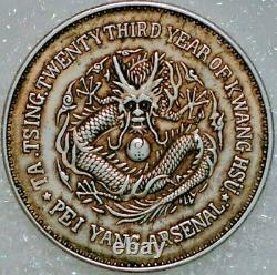 China Chihli Province 50 Cents ND Pey Yang Arsenal Silver (B+311)