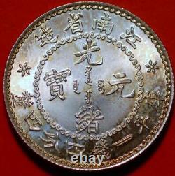 China Kiang Nan 1 mace 4.4 candareens 20 cents 1897 K-72d KM-Y-143 2281