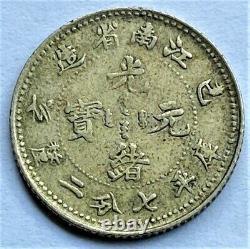 China Kiangnan 1899 Y-142a. 3 L&M-227 Silver 10 Cents