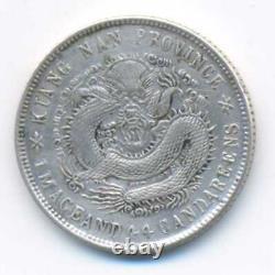 China Kiangnan Kiang-Nan Province Silver 20 Cents CD1901 HAH VF/XF KM#143a. 7