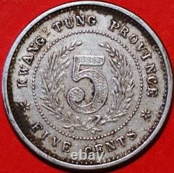 China Kwang-Tung Province 5 Cents ND 1890-1905