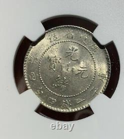 China Kwangtung 20 Cent Ngc Ms63