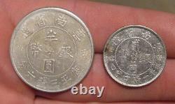 China (Yunnan) 1932 Silver 20 Cents & 50 Cents Nice