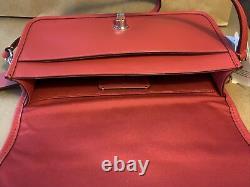 Coach Penny Crossbody Clutch Smooth Red Leather Nwt F87768 $328
