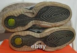DEADSTOCK 2009 Nike Half 1/2 Cent size 9 SILVER SAMPLE Foamposite Penny vintage