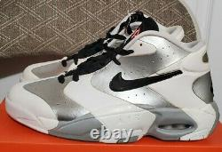 DEADSTOCK 2013 Retro Nike Air Ups size 9 SAMPLE PIPPEN PENNY SILVER vintage PE