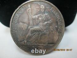 French Cochin China 50 Cent 1879a Km6 Very Rare X/f
