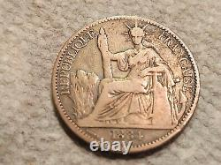 French Cochinine China 1884 A 50 cent exceedingly rare coin