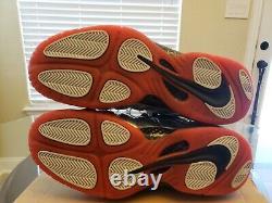Nike Air Foamposite Pro Crimson Platinum Silver Red Black 624041-016 Size 12