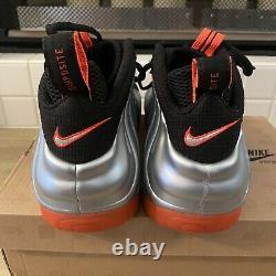 Nike Air Foamposite Pro Crimson Platinum Silver Red Black 624041-016 Size 12 NEW