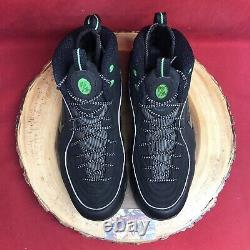Nike Air Penny 1/2 Half Cent Black Green Silver 344646-002 Size 12 Foamposite I