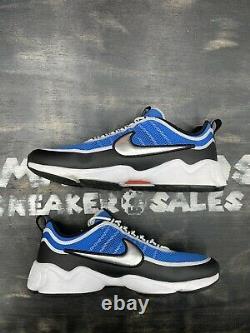 Nike Air Zoom Spiridon Ultra Regal Blue 876267-400 Sz 13 White Black Grey Silver
