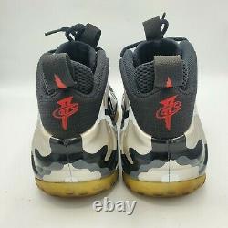 Nike Foamposite Fighter Jet Camo Silver Red 575420-001 SZ 12 Shoes Sneakers