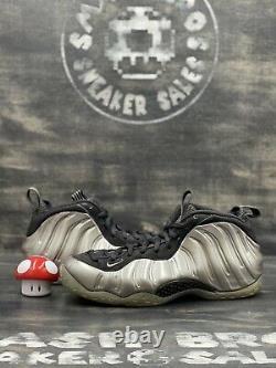 Nike Foamposite One Pewter Size 10 Silver Black white Grey Gray Foam 314996-004