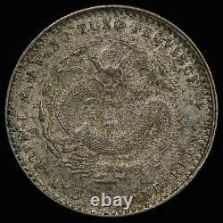 PCGS MS61 1875-1908 CHINA KWANGTUNG Kuang Hsu Silver 20 cents, ex Dr. Axel Wahls