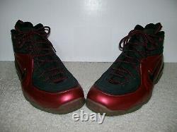 SZ13 Nike 1/2 Cent Cranberry Air Foamposite One 344646-600 Pro Penny 1 Flight II