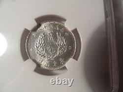 Superb 1929 China Kwangtung Silver 20 Cents NGC Certified MS63