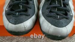 USED 2007 Retro Nike Foamposite Pro size 10.5 METALLIC SILVER vintage PENNY